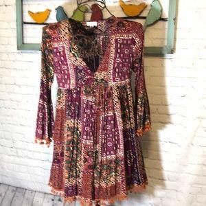 EXCELLENT UMGEE DRESS MUTLI-COLOR SZ M/L FLARE